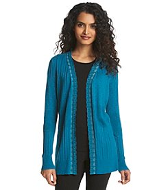 Relativity® Lace Trim Cardigan