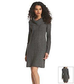 Relativity® Cowlneck Sweater Dress