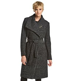Ivanka Trump® Envelope Collar Belted Boucle Coat