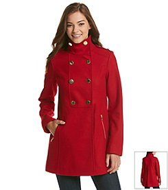 GUESS Double Breasted A-Line Stand Collar Coat