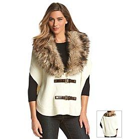 MICHAEL Michael Kors® Faux Fur Buckle Poncho