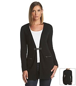 Calvin Klein Long Cardigan With Buckle