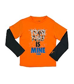 PUMA® Boys' 4-7 Your Turf Is Mine Layered Tee