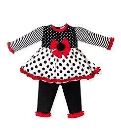 Baby Essentials® Baby Girls' 2-Piece Polka Dot Leggings Set