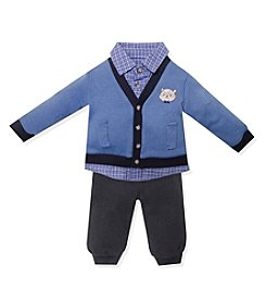 Wendy Bellissimo® Baby Boys' 3-12 Month 2-Piece Raccoon Cardigan Set
