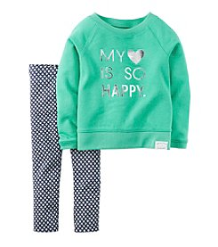 Carter's® Baby Girls' 3-24 Month Happy Heart Leggings Set