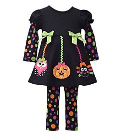 Bonnie Jean® Baby Girls' 3-24 Month Halloween Ornament Leggings Set
