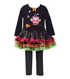 Bonnie Jean® Baby Girls' 3-24 Month Witchy Owl Top And Leggings Set