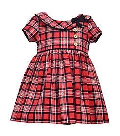 Bonnie Jean® Baby Girls' Short Sleeve Plaid Dress