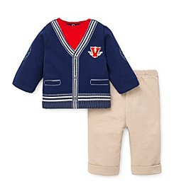 Little Me® Baby Boys' Varsity Cardigan Pants Set