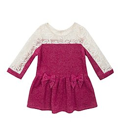 Rare Editions® Baby Girls' Lace Sleeved Dress