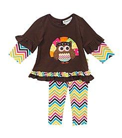 Rare Editions® Baby Girls' Owl Love To Gobble Leggings Set