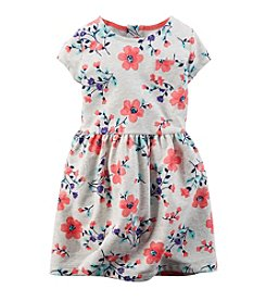 Carter's® Girls' 2T-4T Floral Print Terry Knit Dress