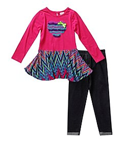 Sweet Heart Rose® Girls' 4-6X Groovy Heart Leggings Set