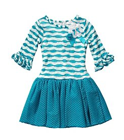 Sweet Heart Rose® Girls' 2T-7 Striped Wave Dress