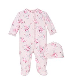 Little Me® Baby Girls' Rose Pattern Footie