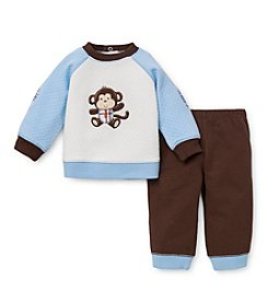 Little Me® Baby Boys' Business Monkey Quilted Pants Set
