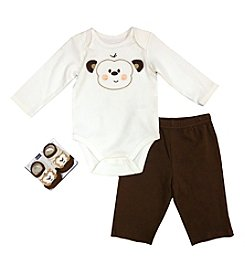 Vitamins Baby® Baby Boys' 3-Piece Happy Monkey Set