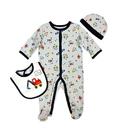 Vitamins Baby® Baby Boys' 3-Piece Construction Footie Set