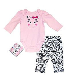 Vitamins Baby® Baby Girls' 3-Piece Happy Zebra Set