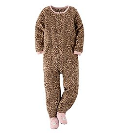 Carter's® Girls' 4-8 Leopard Print One Piece Sleeper