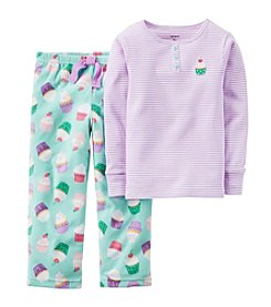 Carter's® Baby Girls' 12M-8 Two-Piece Cupcake Striped Pjs