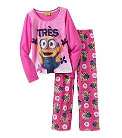 Despicable Me® Girls' 4-10 Minions Tres Cute! Pajama Set
