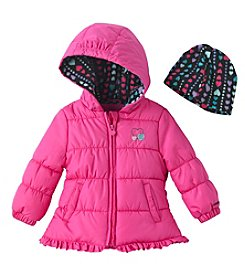 London Fog® Baby Girls' Solid Puffer Jacket