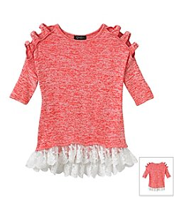 Jessica Simpson Girls' 7-16 Bowie Hacci Top