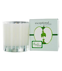 Limited Edition Apple Wood Scented Tapered Glass Jar Candle
