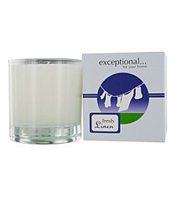 Limited Edition Fresh Linen Scented Tapered Glass Jar Candle