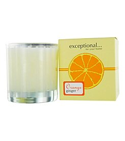 Limited Edition Orange Ginger Scented Tapered Glass Jar Candle