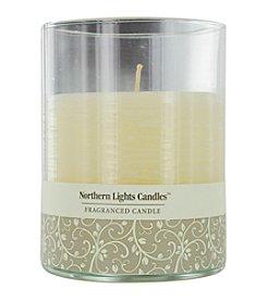 Vanilla Cream Scented Glass Pillar Candle