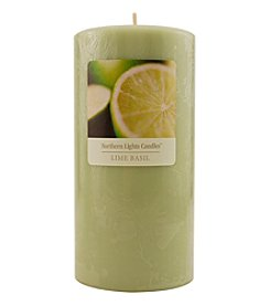 Lime Basil Essential Blend Pillar Candle