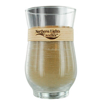 Sandalwood Scented Woodland Natural Wick Glass Hurrican Candle