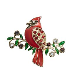 Studio Works® Red And Goldtone Cardinal Pin