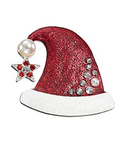 Studio Works® Silvertone And Red Santa Hat Pin