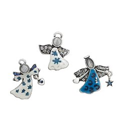 Studio Works® Silvertone And Blue And White Angel Tack Pins