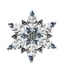 Studio Works® Silvertone Snowflakes Pin