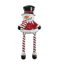 Studio Works® Silvertone White, Red, And Jet Black Snowman Pin
