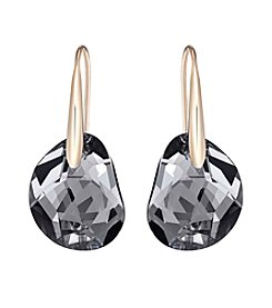 Swarovski® Rose Goldtone Galet Pierced Earrings