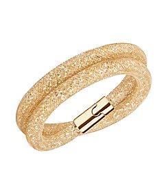 Swarovski® Goldtone Stardust Double Mesh Bracelet