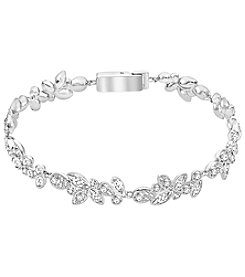 Swarovski® Silvertone Diapason Bracelet
