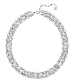 Swarovski® Silvertone Fit All Around Necklace