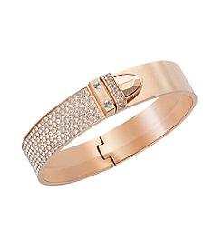 Swarovski® Rose Goldtone Distinct Bangle Bracelet