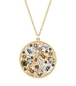 Swarovski® Goldtone Dorado Pendant Necklace