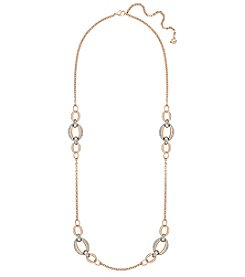 Swarovski® Two Tone Circlet Strandage Necklace