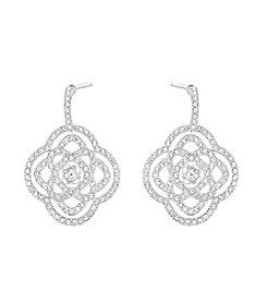 Swarovski® Silvertone Daylight Earrings
