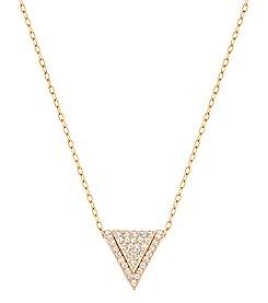 Swarovski® Goldtone Versatile V Pendant Necklace