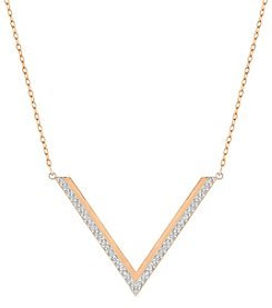 Swarovski® Goldtone Medium Delta V Necklace